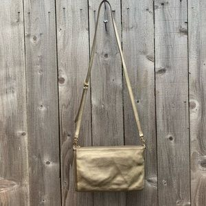Fossil gold purse